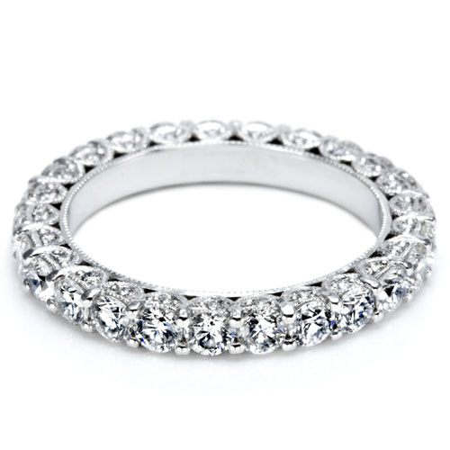 Wedding Bands for women 2.50Ct Diamond White Gold