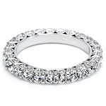 Wedding Bands for women 2.50Ct Diamond White Gold Ring Natural Certified