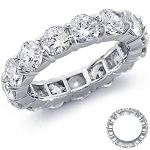 Diamond Eternity Band 2.00Ct White Gold Ring Natural Certified