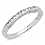 0.75Ct Hi Natural Diamond White Gold Solitaire Ring / Band Certified