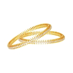Eternity bangle 5.60 Ct Solid Gold Natural Certified