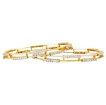 Diamond eternity Bangle 3.25 Ct Solid Gold Natural Certified