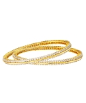 Diamond Eternity Bangle Pair 6.55 Ct Solid Gold Natural Certified