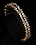Diamond eternity Bangle 8.00 Ct Solid Gold Natural Certified