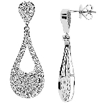Chandelier Earrings Wedding 2.00Ct Diamond Natural Certified Solid Gold