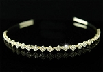 Bridal Headband 2.55Ct Certified Diamond 14K Gold Head Pieces