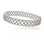 Diamond Cuff Bracelets 8.25 Ct Solid Gold Natural Certified