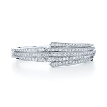 Women Cuff Bracelets 3.05 Ct Diamond Solid Gold Natural Certified