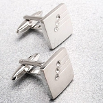 0.10 Ct Ij - Si2 Diamond 14K Gold Men'S Certified Cufflinks