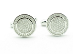 1.00 Ct Untreated Diamond Solid Gold Men'S Certified Cufflinks