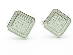 1.10 Ct Untreated Diamond Solid Gold Men'S Certified Cufflinks