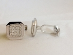 0.70 Ct Untreated Diamond Solid Gold Men'S Certified Cufflinks
