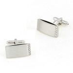 0.15 Ct Diamond 14K Gold Men'S Certified Cufflinks