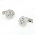 0.75 Ct Untreated Diamond Solid Gold Men'S Certified Cufflinks