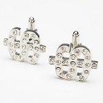 0.60 Ct Untreated Diamond Solid Gold Men'S Certified Cufflinks
