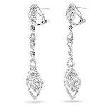 Diamond Drop Earrings 4.00 Ct Natural Certified Solid White Gold