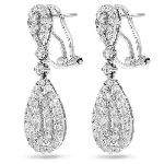Drop Dangle Earrings 2.55 Ct Diamond Natural Certified Solid White Gold