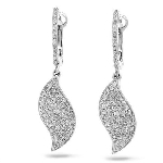 Dangle Earrings 2.25 Ct Diamond Natural Certified Solid White Gold