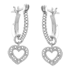 Diamond Dangle Earrings 0.80 Ct Natural Certified Solid White Gold