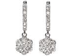Diamond Dangle Earrings 1.00 Ct Natural Certified Solid Gold