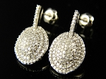 Dangle Earrings 3.00 Ct Diamond Natural Certified Solid White Gold