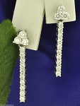 Diamond Hanging Earrings 1.00Ct Natural Certified Solid Gold