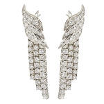 Diamond Dangle Earrings 2.00Ct Natural Certified Solid White Gold