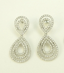 Diamond Dangle Earrings 2.25Ct Diamond Untreated Natural Certified Solid Gold