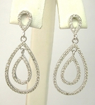 Diamond Drop Earrings 1.75Ct Diamond Untreated Natural Certified Solid Gold