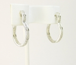 Small Hoop Earrings 1.00Ct Diamond Natural Certified Solid Gold