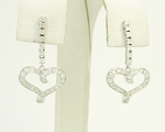 Dangle Earrings 0.80Ct Diamond Natural Certified Solid Gold Wedding