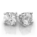 Diamond Studs 2.00 Ct Natural Certified Solid Gold  Earrings