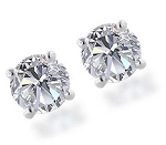 Diamond Solitaire Earrings 1.00 Ct Natural Certified Solid Gold Studs