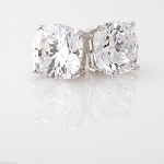 Diamond Studs 1.00 Ct Solitaire Earrings Natural Certified Solid Gold