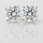 Solitaire Diamond Studs 2.00 Ct Natural Certified Solid Gold Wedding Earrings