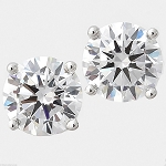 Solitaire Studs 4.00 Ct Diamond Earrings Natural Certified Solid Gold