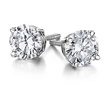 Solitaire Studs 1.50 Ct diamond Natural Certified Solid Gold Earrings