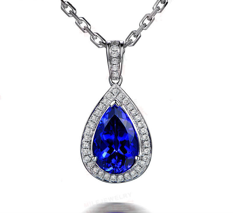 Diamond Necklace & Pendant 1 Ct Solid Gold Natural Certified