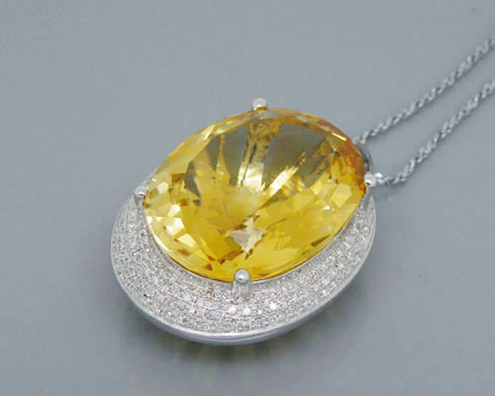 Latest Diamond Pendant Sets 0.75 Ct Solid Gold Natural Certified