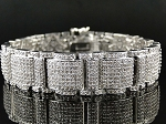 7.44 Ct Natural Diamond Solid Gold Men'S Certified Bracelet