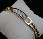 2.50 Ct Natural Diamond Solid Gold Men'S Certified Bracelet
