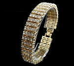 7.60 Ct Natural Diamond Solid Gold Men'S Certified Bracelet