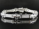 3.00 Ct Hi - Si2 Natural Diamond 14K Gold Men'S Certified Bracelet