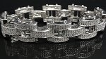 5.00 Ct Natural Diamond Solid Gold Men'S Certified Bracelet
