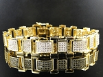 4.50 Ct Hi Natural Diamond 14K Gold Men'S Certified Bracelet
