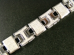 7.11 Ct Natural Diamond Solid Gold Men'S Certified Bracelet
