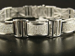 6.48 Ct Natural Diamond Solid Gold Men'S Certified Bracelet