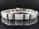 6.00 Ct Natural Diamond Solid Gold Men'S Certified Bracelet