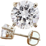0.50Ct Natural Diamond Solid Gold Men'S Single Stud Certified