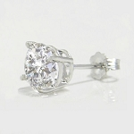 1.00Ct Natural Diamond Solid Gold Men'S Single Stud Certified